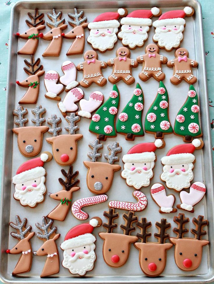 Decorated Christmas Cookies Pinterest  1691 best cookies Christmas images on Pinterest