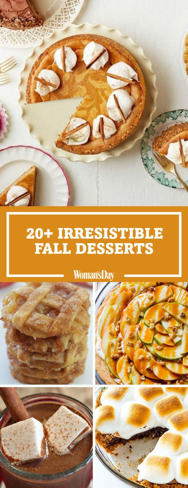 Desserts For Fall  31 Easy Fall Desserts Best Recipes for Autumn Desserts