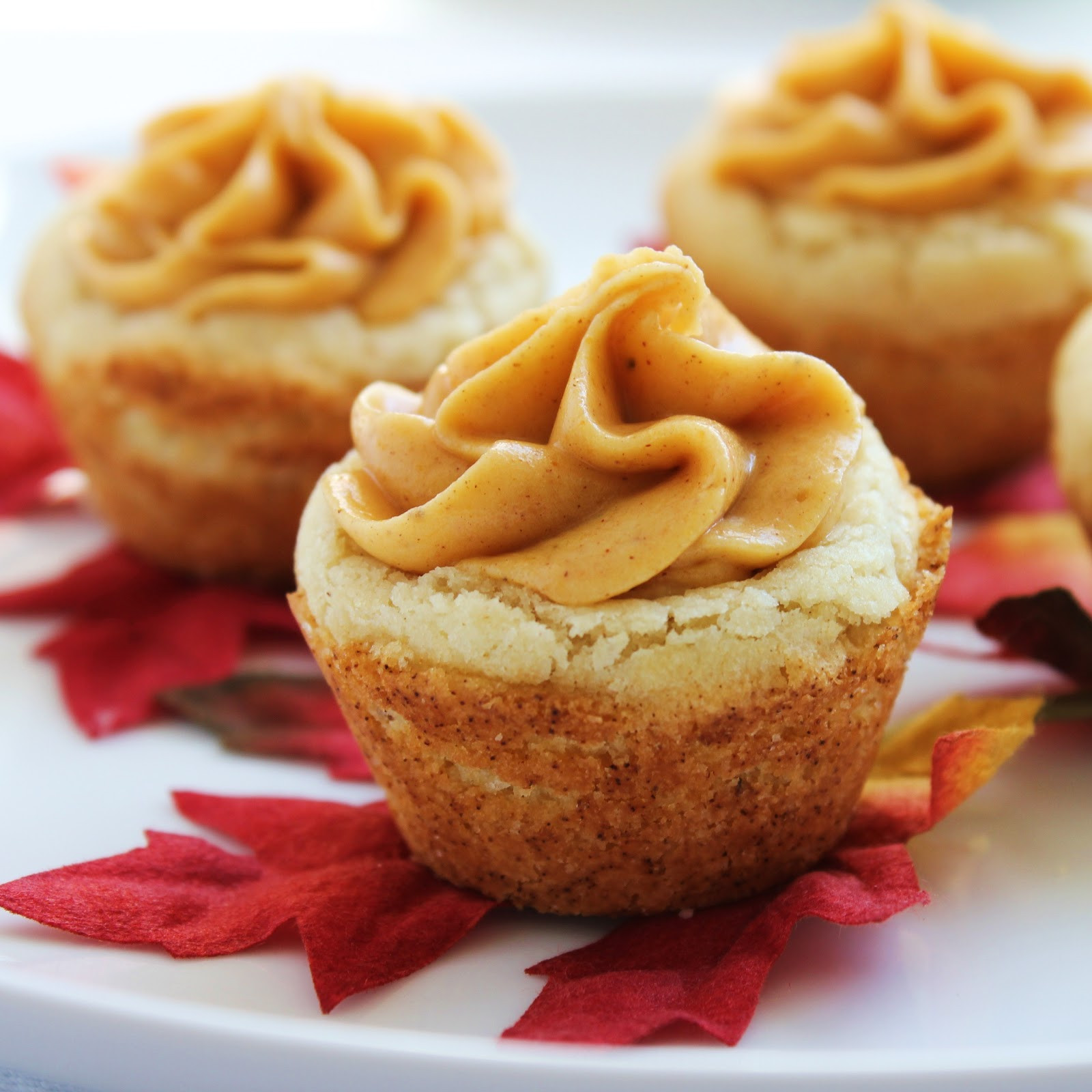 Desserts For Fall  Inspired by Fall Pumpkin Cookie Cups Delicious as it Looks