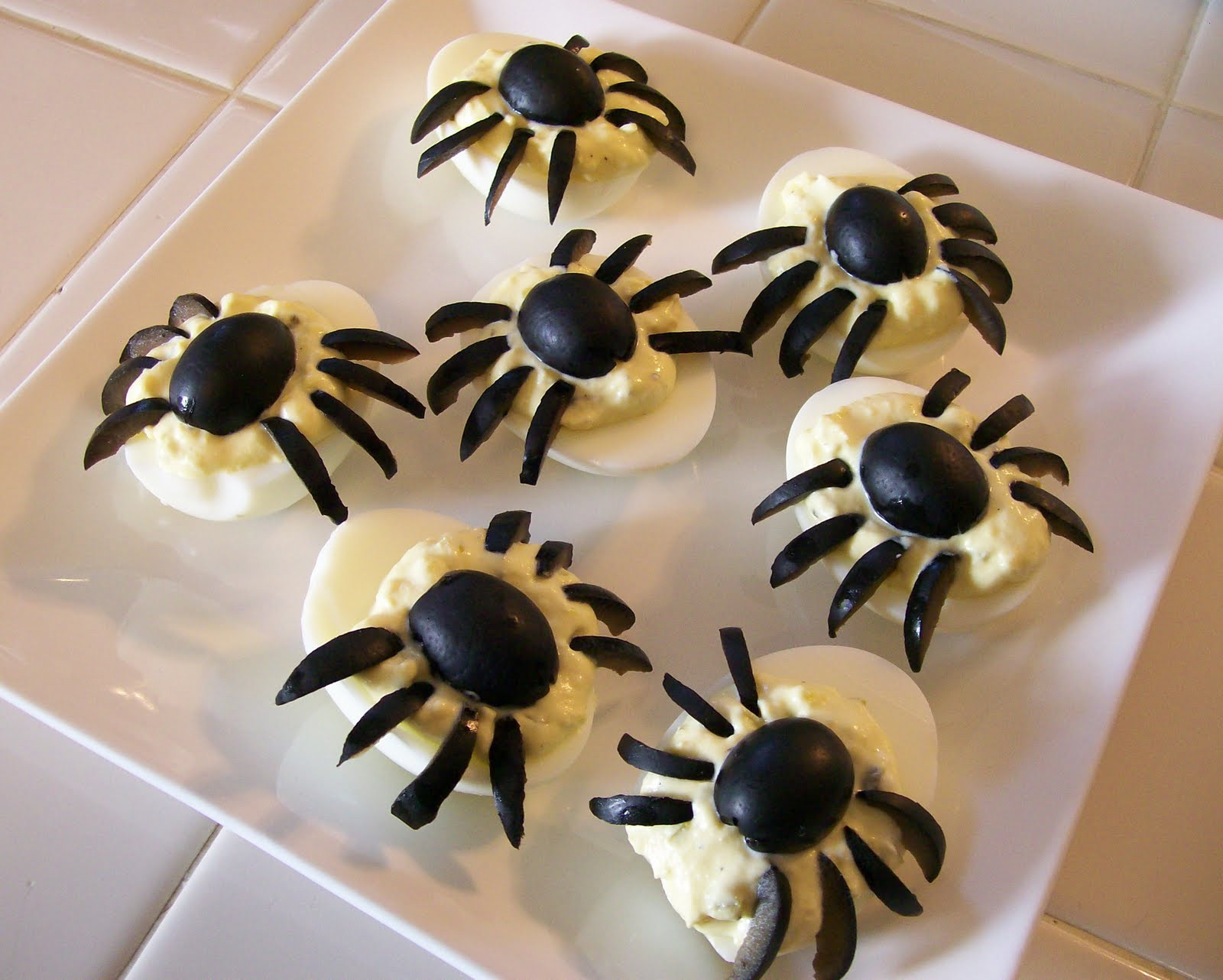 Deviled Eggs Spider Halloween  theworldaccordingtoeggface October 2010