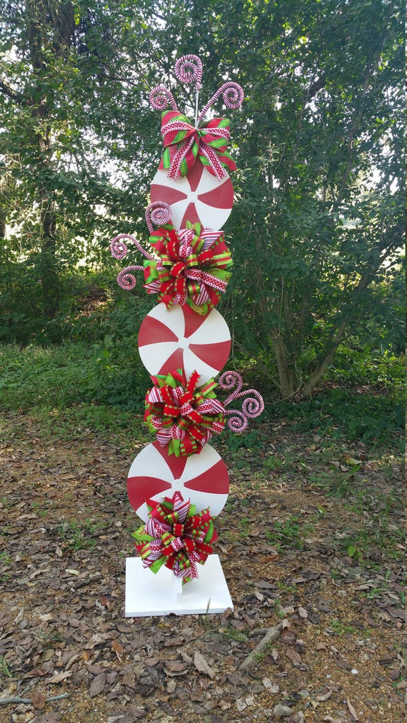 Diy Christmas Candy Decorations  Peppermint Stand Tutorial Candy Cane Tutorial Decor