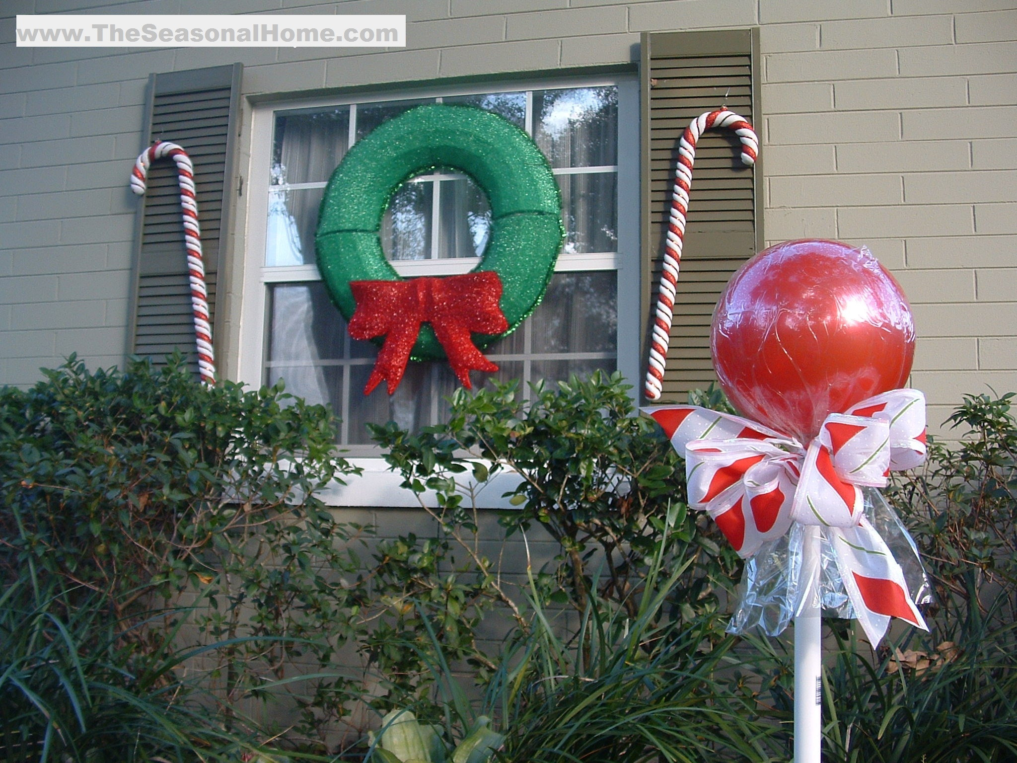 """Diy Christmas Candy Decorations  Outdoor """"CANDY"""" A Christmas Decorating Idea The"""