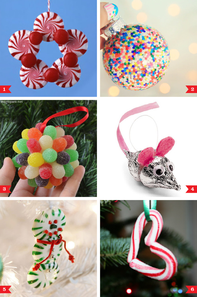 Diy Christmas Candy Decorations  DIY Christmas ornaments made from candy