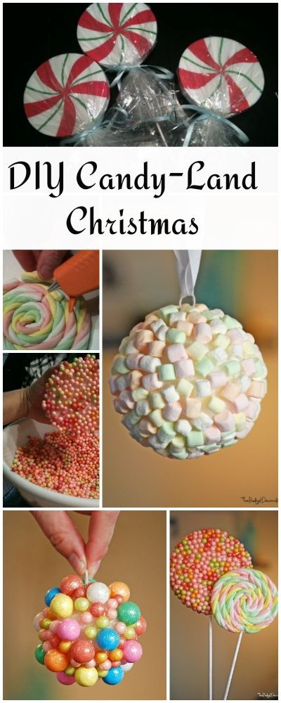 Diy Christmas Candy Decorations  Candy Land Christmas Theme Tree • Check out these DIY