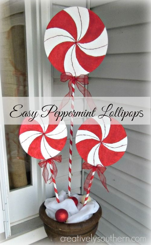 Diy Christmas Candy Decorations  Best 25 Giant lipops ideas on Pinterest