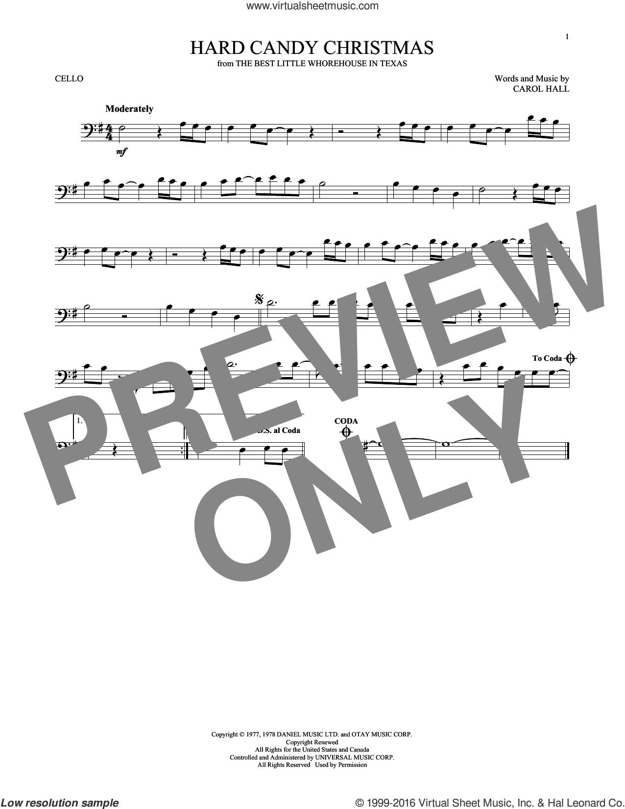 Dolly Parton Hard Candy Christmas Song  Parton Hard Candy Christmas sheet music for cello solo [PDF]