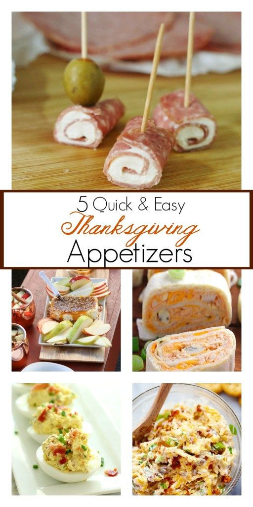 Easy Appetizers For Thanksgiving  5 Quick And Easy Thanksgiving Appetizer Recipes