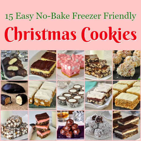 Easy Bake Christmas Cookies  No Bake Christmas Cookies 15 easy recipes that are