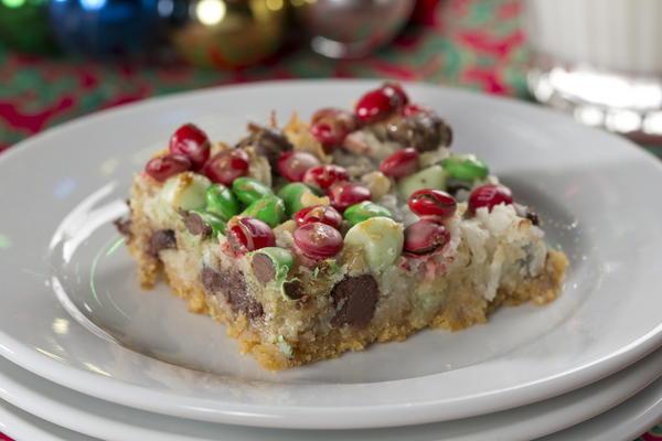 Easy Christmas Bar Cookies  Christmas Magic Squares