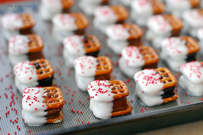 Easy Christmas Bar Cookies  Candy Bar Pretzel Bites