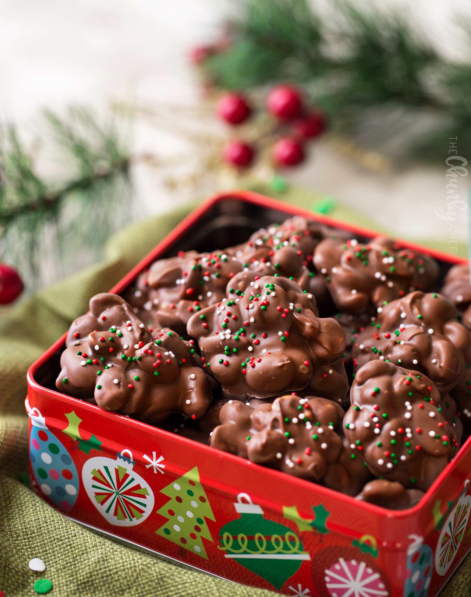 Easy Christmas Candy  Easy Christmas Crockpot Candy The Chunky Chef