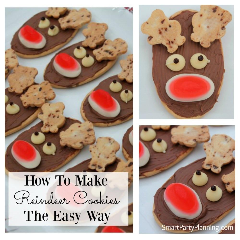 Easy Christmas Cookies For Kids  How To Make Reindeer Cookies The Easy Way