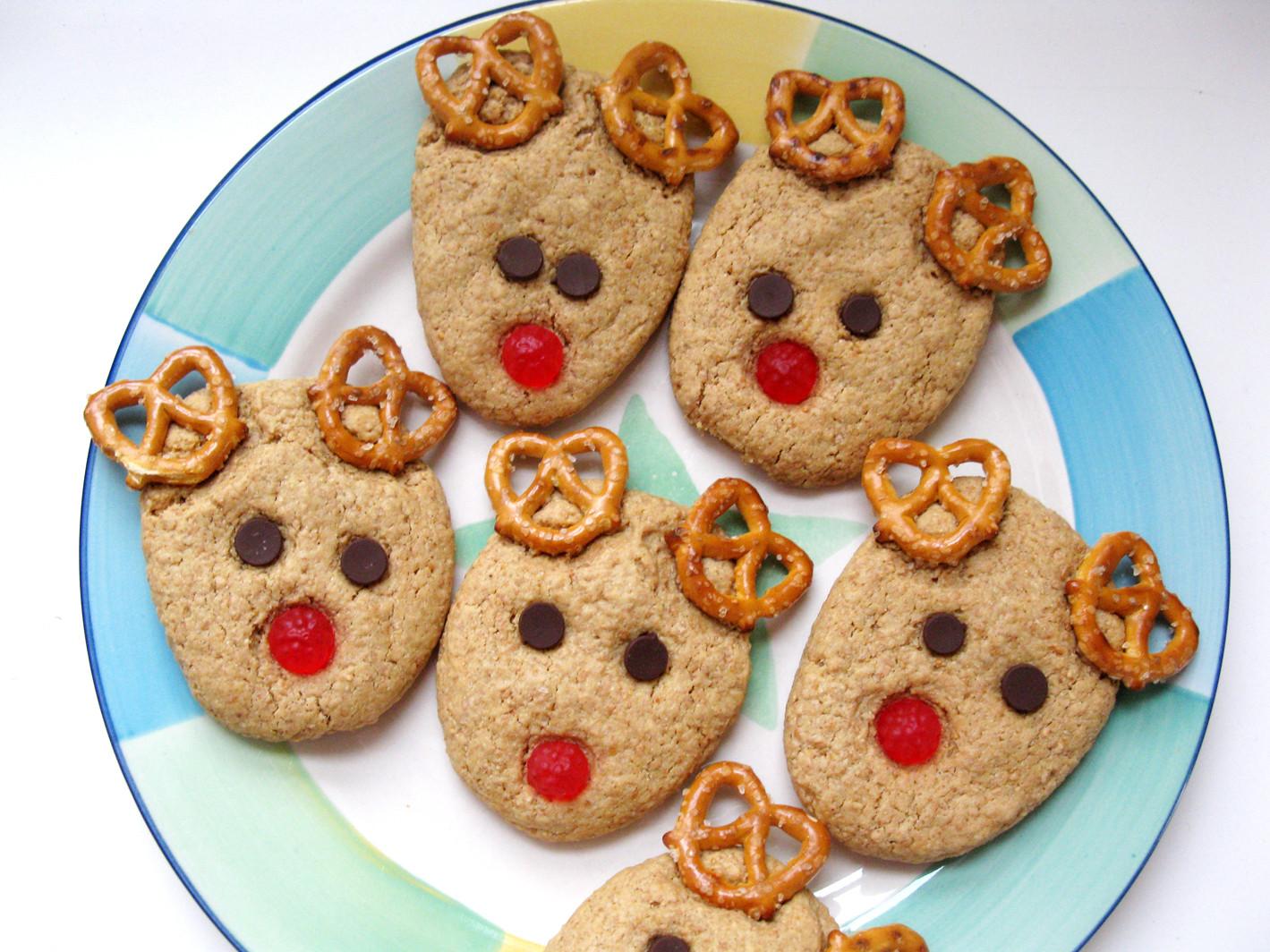 Easy Christmas Cookies For Kids  Rudolph Reindeer Cookies