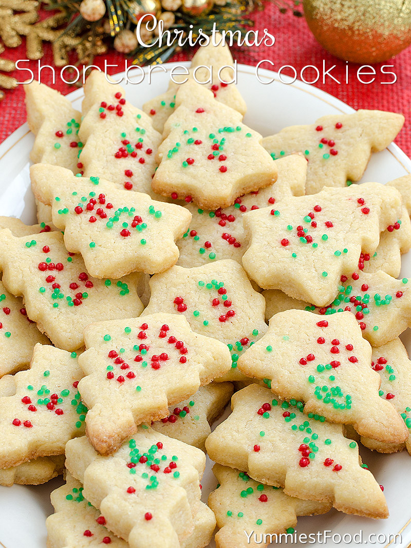 Easy Christmas Cookies Recipes  Christmas Shortbread Cookies Recipe from Yummiest Food