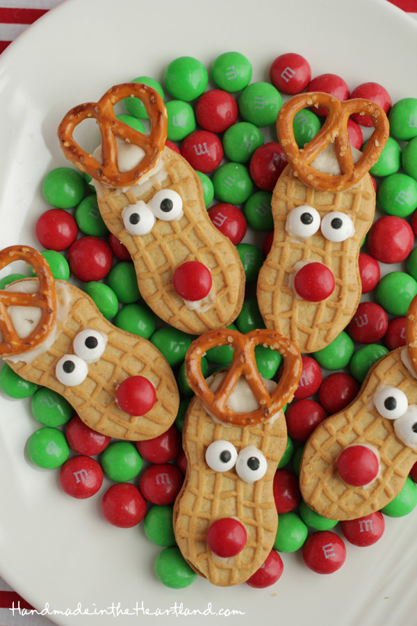 Easy Christmas Cookies To Make With Kids  Nutter Butter Reindeers
