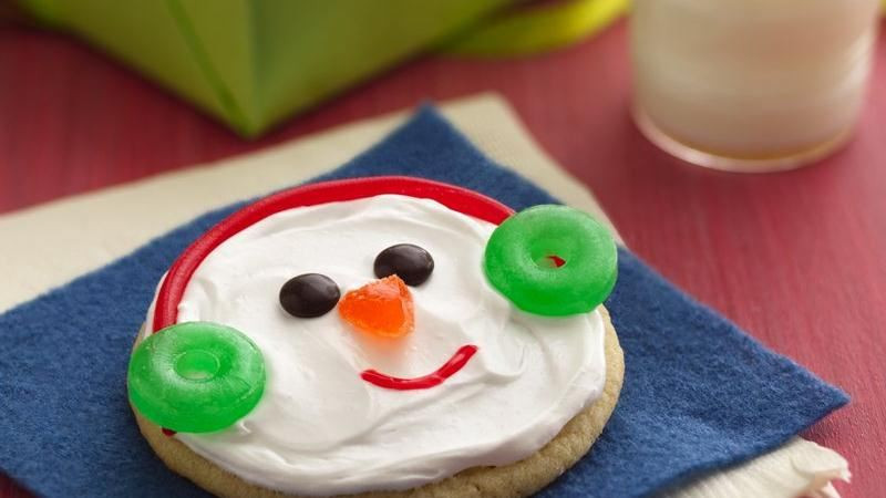 Easy Christmas Cookies To Make With Kids  Easy Snowman Cookies recipe from Betty Crocker