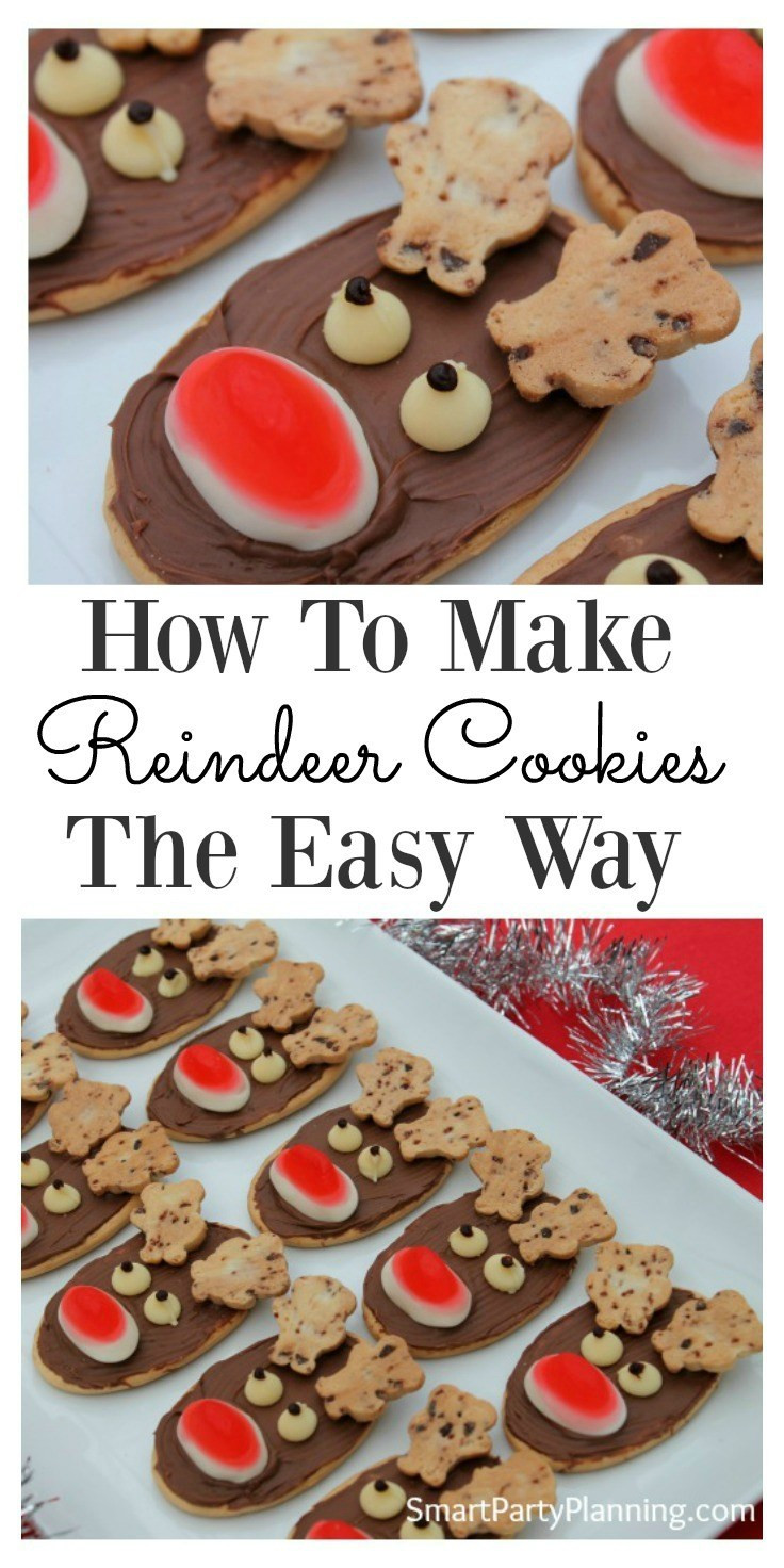 Easy Christmas Cookies To Make With Kids  How To Make Reindeer Cookies The Easy Way