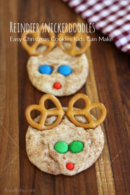 Easy Christmas Cookies To Make With Kids  How to Make Reindeer Snickerdoodles Easy Christmas