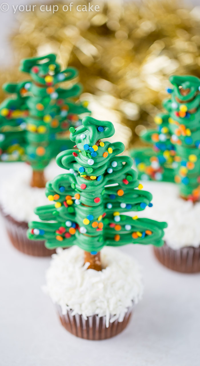 Easy Christmas Cupcakes Recipe  Easy Christmas Tree Cupcakes Your Cup of Cake