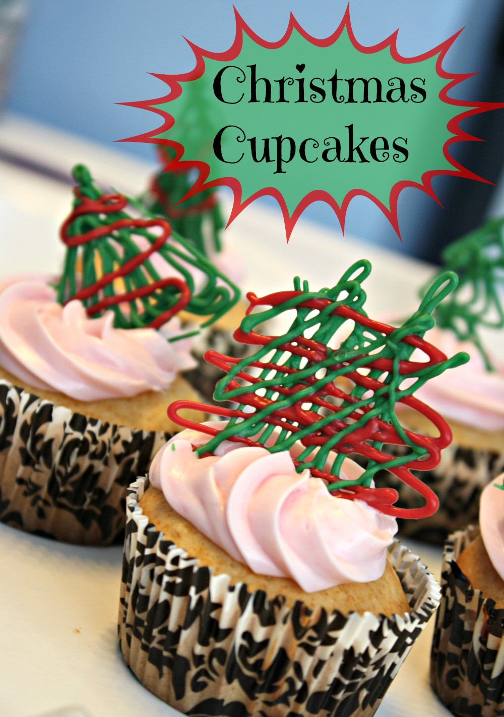 Easy Christmas Cupcakes Recipe  Easy Christmas Cupcakes with Drizzled Chocolate Recipe