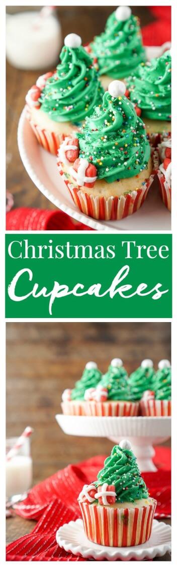 Easy Christmas Cupcakes Recipe  Easy Christmas Tree Cupcakes Sugar & Soul