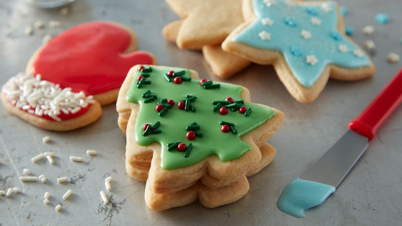 Easy Christmas Cut Out Cookies  Easy Christmas Sugar Cookie Cutouts Recipe BettyCrocker