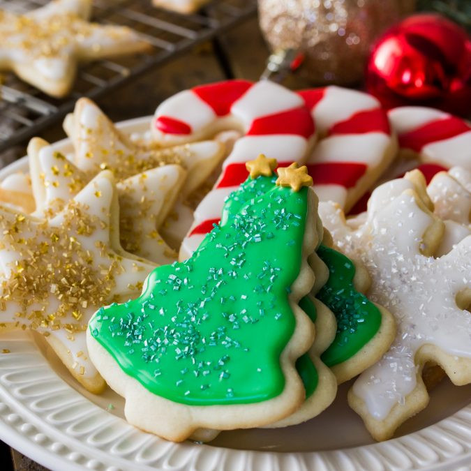 Easy Christmas Cut Out Cookies  Easy Sugar Cookie Recipe With Frosting Sugar Spun Run