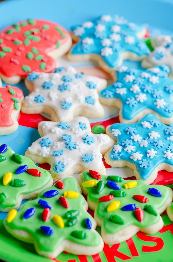 Easy Christmas Cut Out Cookies  Soft Christmas Cut Out Sugar Cookies with Easy Icing
