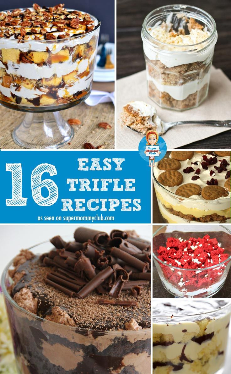 Easy Christmas Desserts For A Crowd  Easy trifle recipe Trifle recipe and Recipes for a crowd