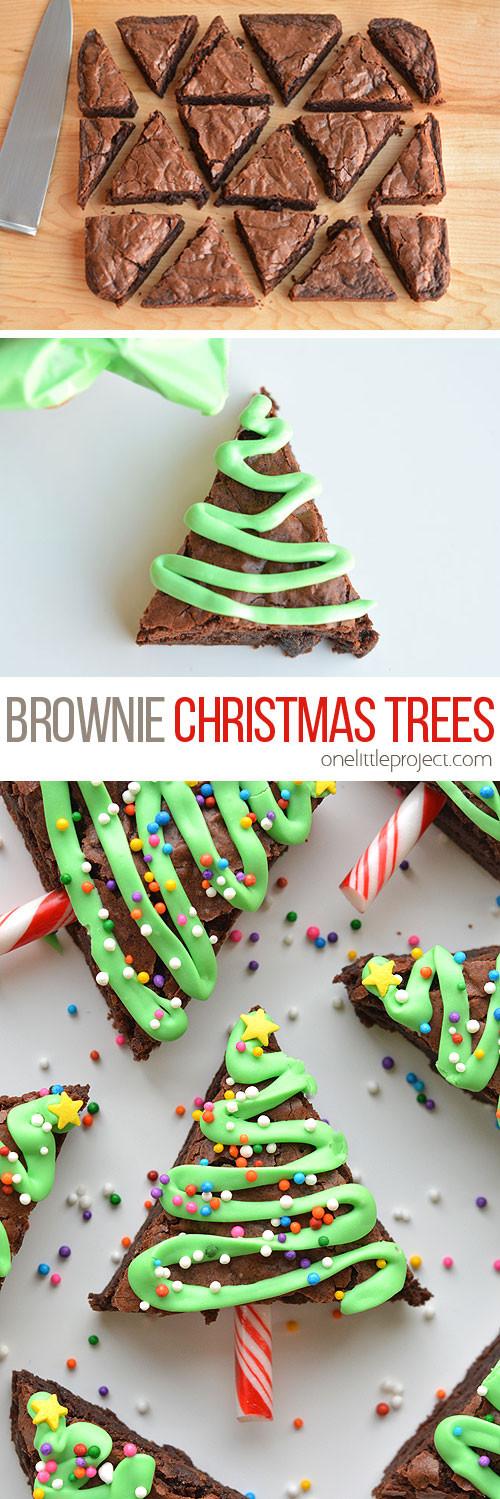 Easy Christmas Desserts Pinterest  Easy Christmas Tree Brownies