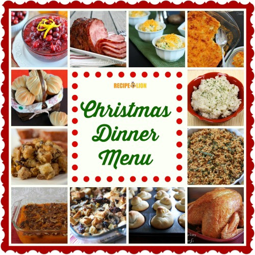 Easy Christmas Dinner Menu  56 Christmas Dinner Menu Ideas