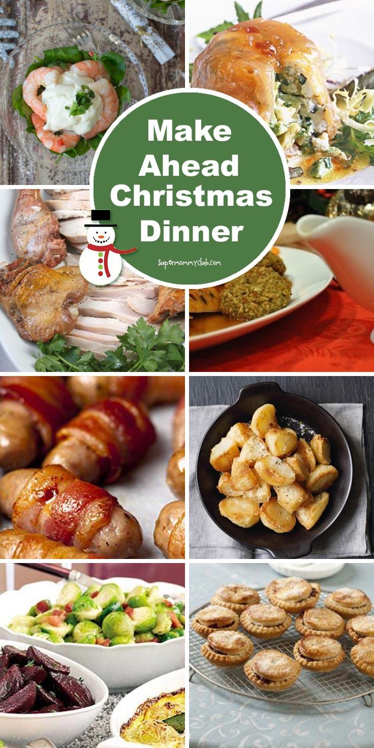 Easy Christmas Dinner Menu  MakeAheadChristmasDinnerRecipesPinterest Written Reality