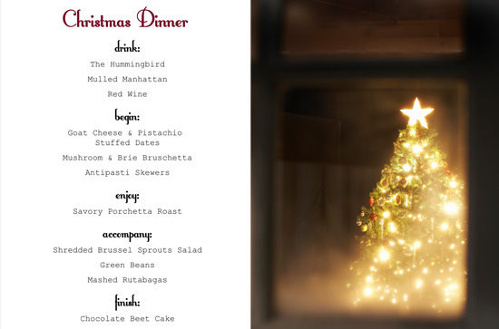 Easy Christmas Dinner Menu  Simple Christmas Dinner Menu