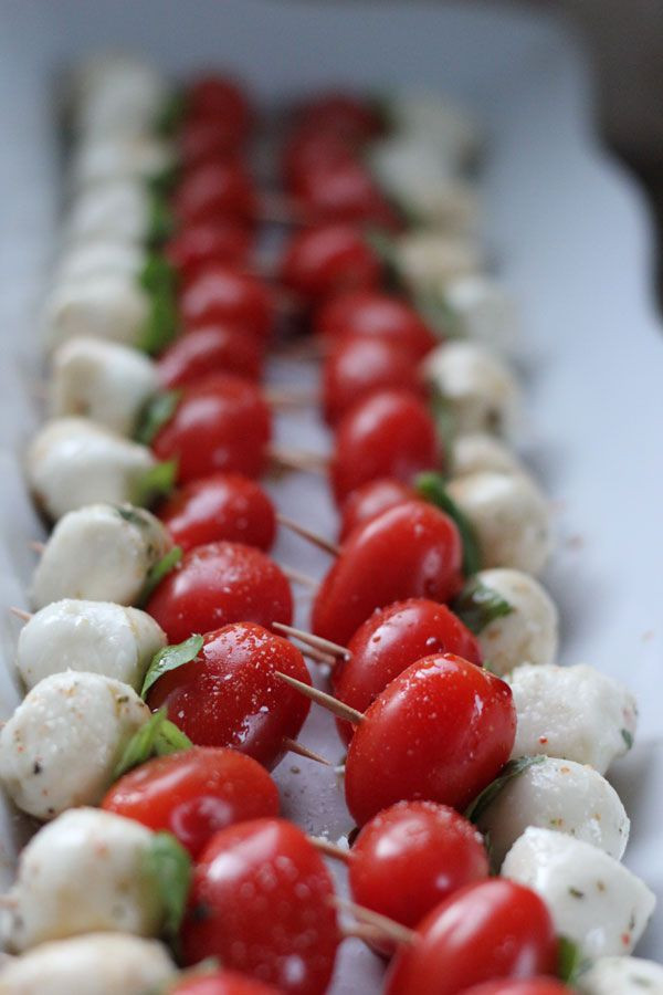 Easy Christmas Eve Appetizers  Simple caprese appetizer Perfect for Christmas guests