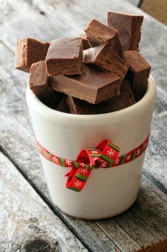 Easy Christmas Fudge Recipe  25 Yummy Homemade Christmas Candy Recipes DIY & Crafts
