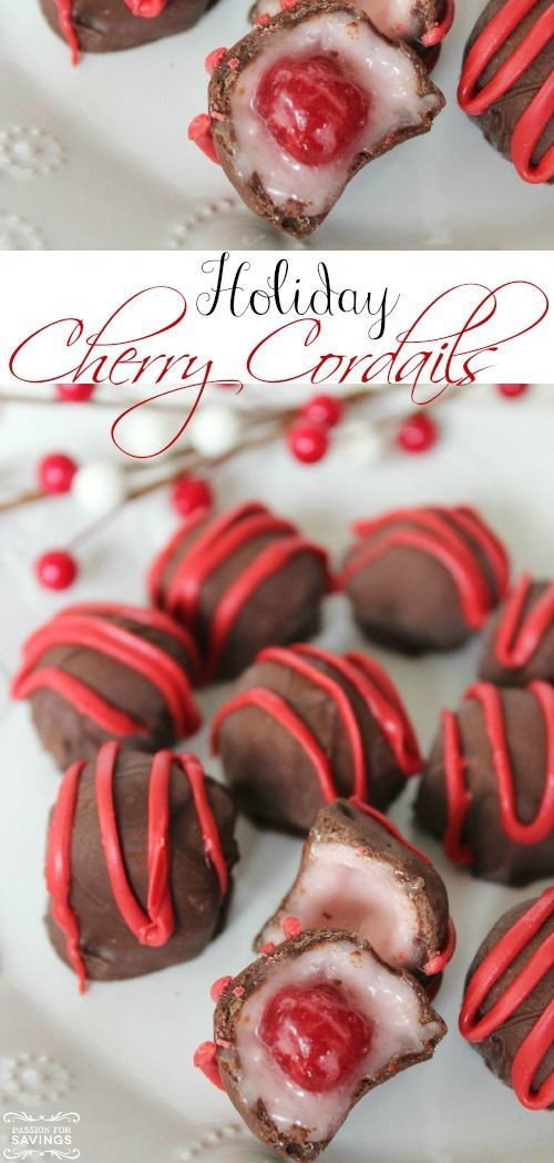 Easy Christmas Party Desserts  Christmas parties Cherries and Homemade on Pinterest