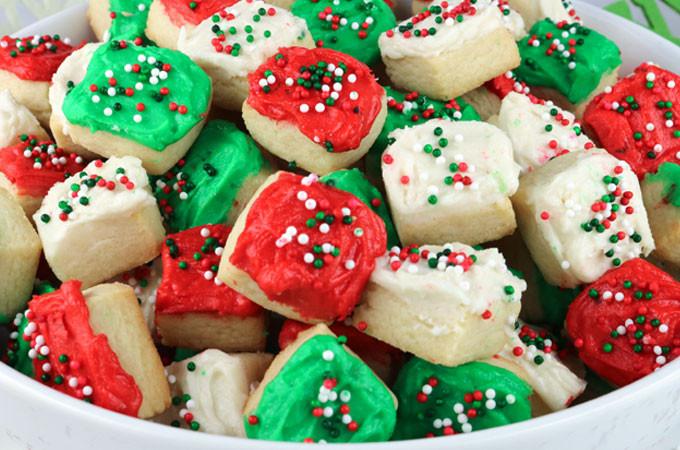 Easy Christmas Sugar Cookies  Christmas Sugar Cookie Bites Two Sisters