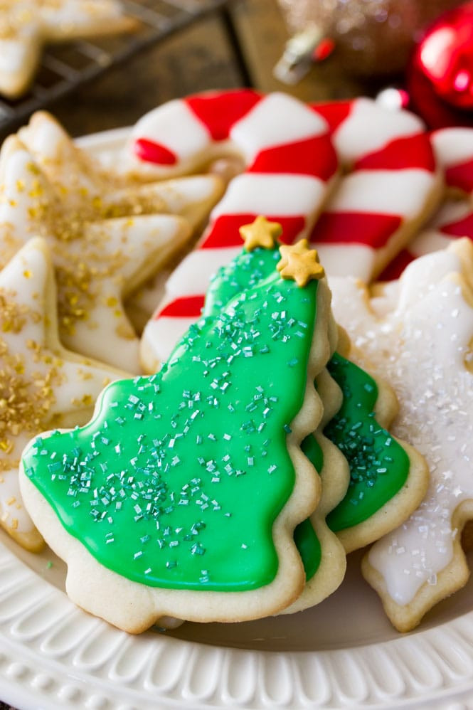 Easy Christmas Sugar Cookies Recipes  Easy Sugar Cookie Recipe With Frosting Sugar Spun Run