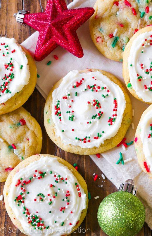 Easy Christmas Sugar Cookies Recipes  Funfetti Cookies Supreme Sallys Baking Addiction