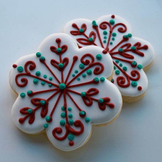 Easy Decorative Christmas Cookies  1000 ideas about Decorated Sugar Cookies on Pinterest