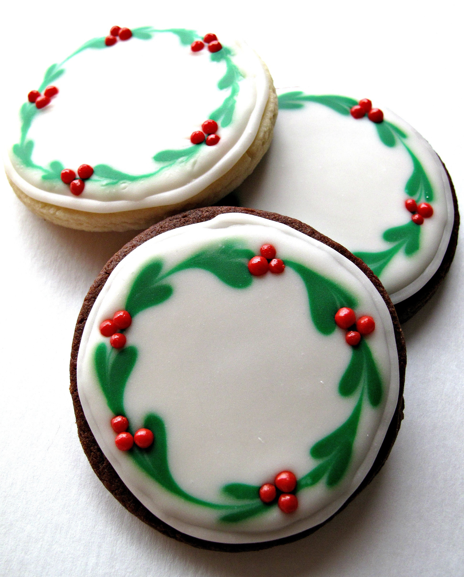 Easy Decorative Christmas Cookies  Chocolate Covered Oreos and Iced Christmas Sugar Cookies