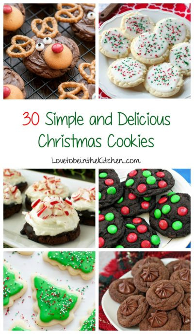 Easy Delicious Christmas Cookies  Dark Chocolate M&M Christmas Cookies Love to be in the