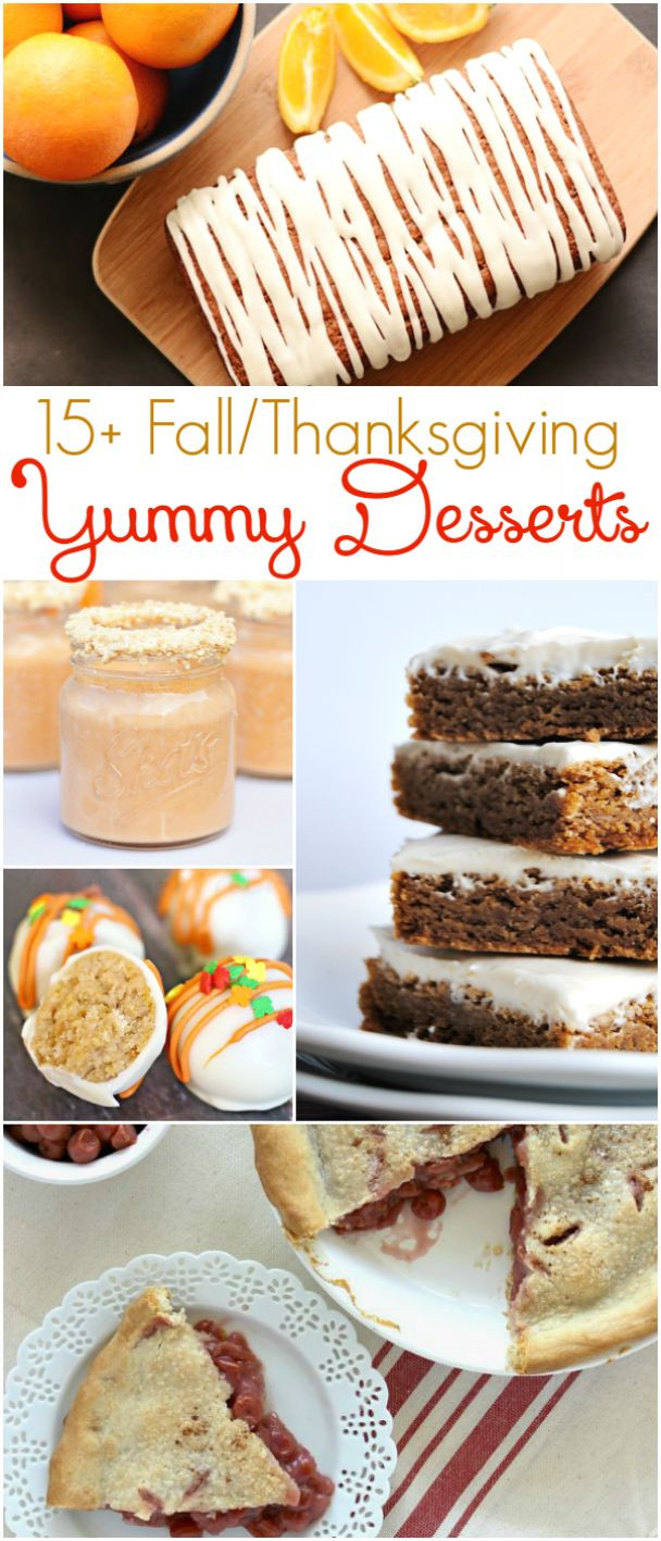 Easy Fall Desserts  15 Fall Thanksgiving yummy desserts