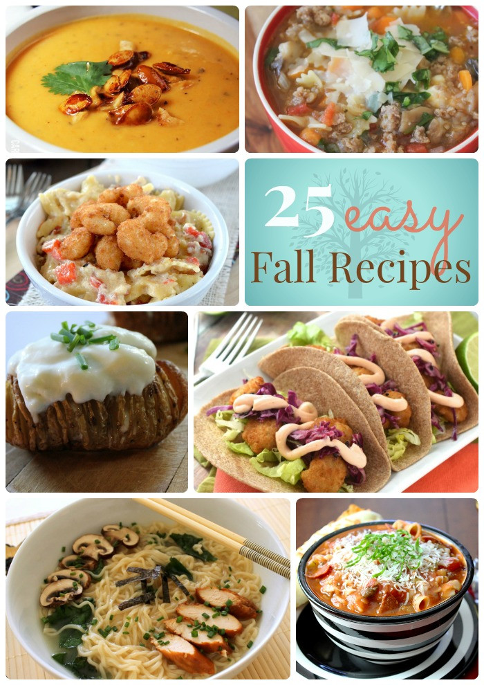 Easy Fall Dinners  Great Ideas 25 Easy Fall Dinner Ideas