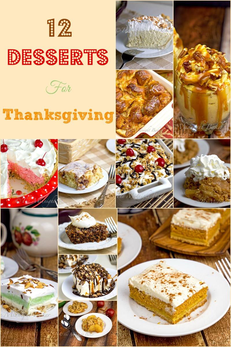 Easy Thanksgiving Desserts Pinterest  12 Great Thanksgiving Desserts The Midnight Baker