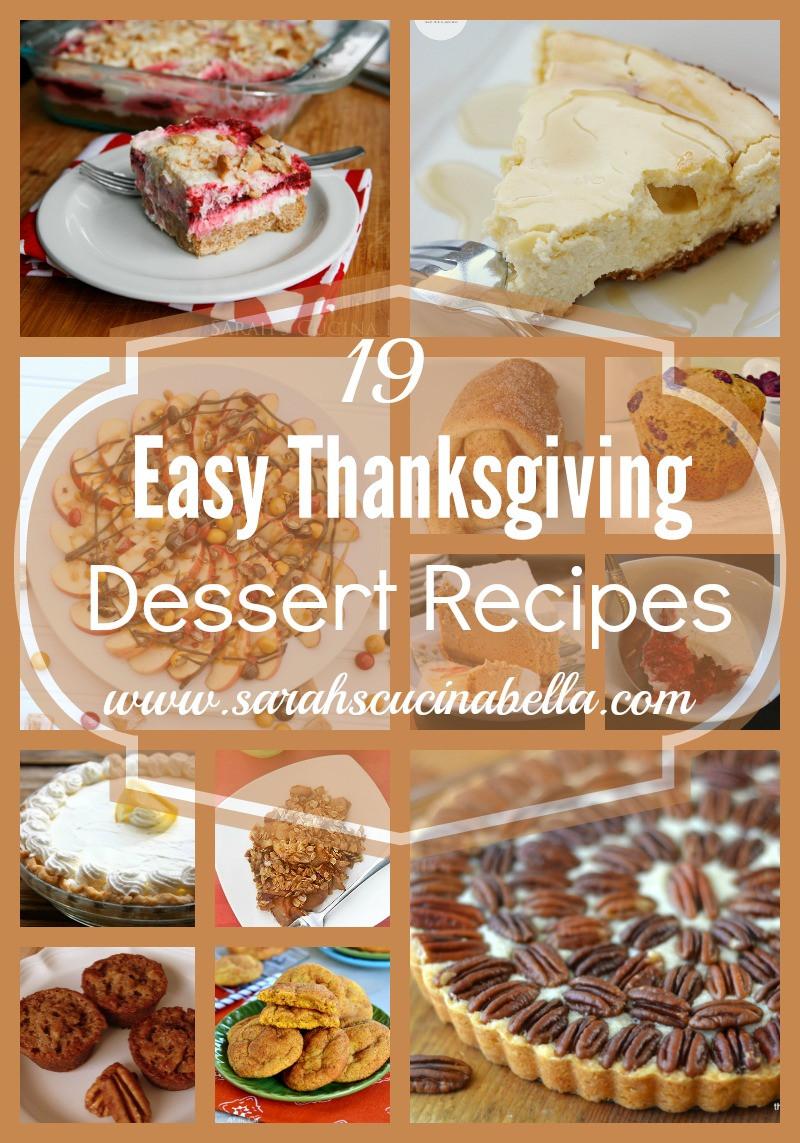 Easy Thanksgiving Desserts Pinterest  19 Easy Thanksgiving Dessert Recipes