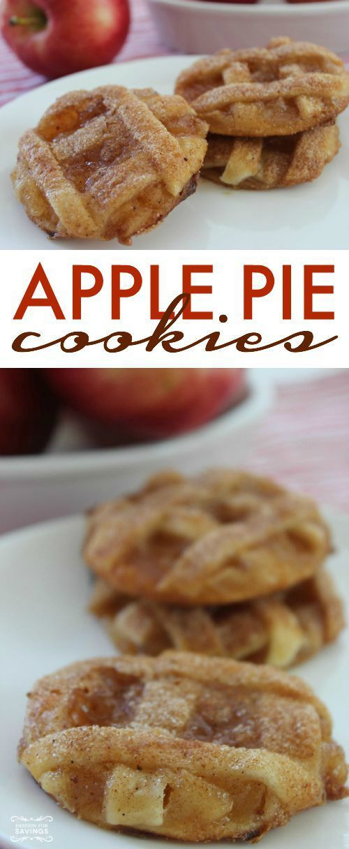 Easy Thanksgiving Desserts Pinterest  Apple Pie Cookies Homemade Recipe Easy desserts and Pie