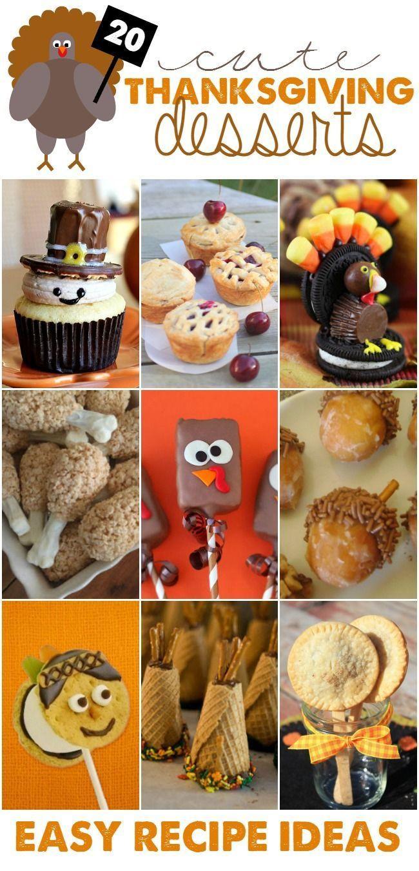 Easy Thanksgiving Desserts Pinterest  Best 25 Cute thanksgiving desserts ideas on Pinterest