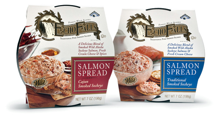 Echo Falls Smoked Salmon  Timeless packaging design for today's consumer