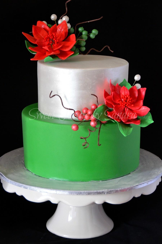 Elegant Christmas Cakes  An Elegant Christmas Birthday Cake CakeCentral